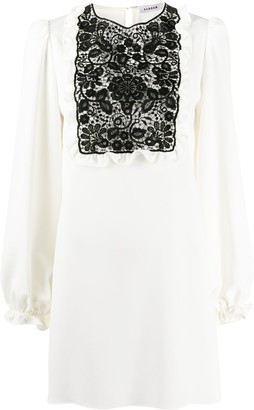 P.A.R.O.S.H. Lace-Panel Shift Dress