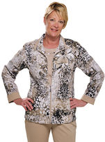 Allison Daley Petite Long Sleeve Zip Front Jacket