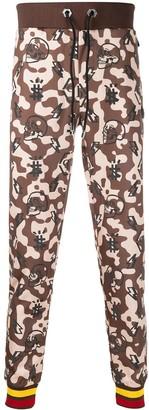 Philipp Plein Camouflage Print Track Pants