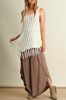 Umgee USA Trendy Fringe Sweater Tank