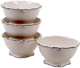 Certified International Vintage Cream 4-pc. Ice Cream Bowl Set