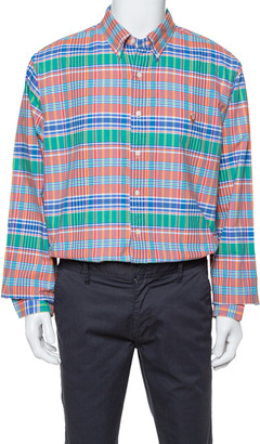Ralph Lauren Multicolor Cotton Oxford Madras Plaid Slim Fit Shirt XXL