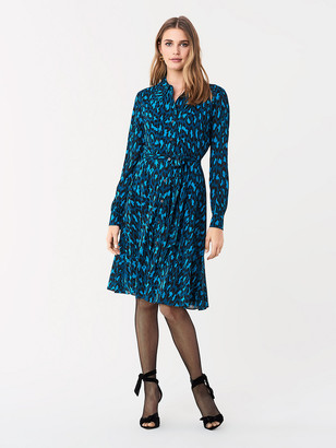 Diane von Furstenberg Dory Tissue Jersey Shirt Dress