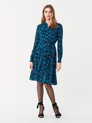 Diane von Furstenberg Dory Tissue Jersey Shirt Dress