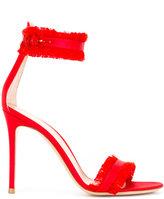 Gianvito Rossi Caribe 10.5 sandals - women - Silk/Goat Skin/Leather - 37.5