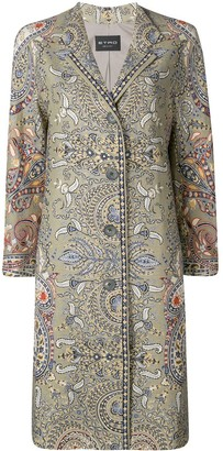 Etro paisley print straight-cut coat