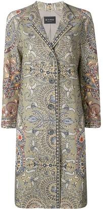 Etro Paisley Print Straight-Cut Coat