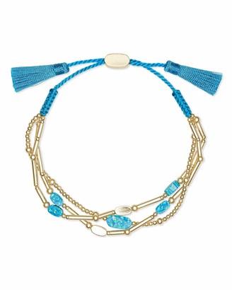 Kendra Scott Chantal Beaded Bracelet in Violet Kyocera Opal 14k Gold-Plated