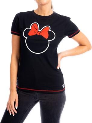 Disney Womens T-Shirt Minnie Mouse Black Medium