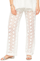 A Pea in the Pod Secret Fit Belly Lace Wide Leg Maternity Pants