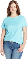 Just My Size Women's Plus-Size Short Sleeve Scoop Neck Tee