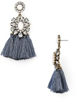 Aqua Medallion Tassel Drop Earrings - 100% Exclusive
