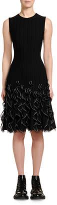 Alexander McQueen Sleeveless Ruffle-Hem Dress
