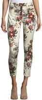 Jen7 by 7 for All Mankind Enchanted Blossom Ankle Skinny Jeans