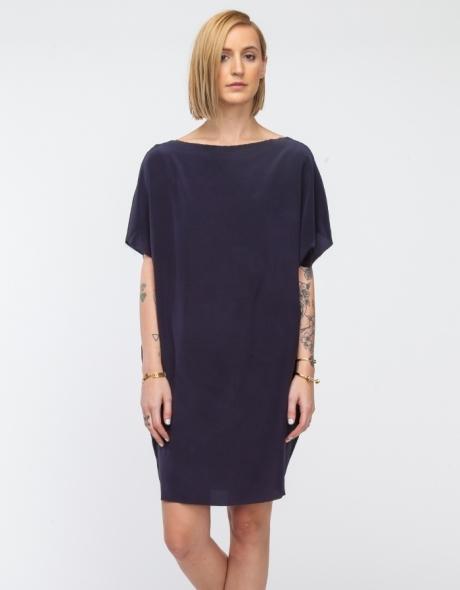 Cocoon Dress in Slate