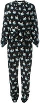 Stella McCartney 'Monia' swan print jumpsuit - women - Silk - 42