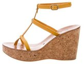 K Jacques St Tropez Leather Wedge Sandals