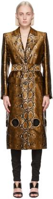 Versace Gold Python Cut-Out Coat