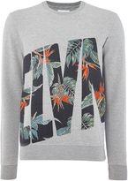 Eleven Paris Men's Regular fit floral logo print sweatshirt