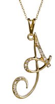 Max & Chloe Collection V A Initial Pendant Necklace