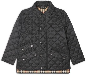Burberry Kids Diamond-Quilted Jacket (3-12 Years)