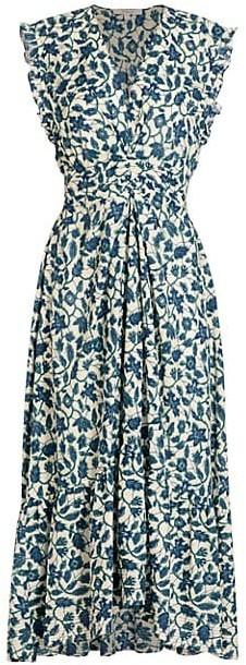 Derek Lam 10 Crosby Kris Floral Sleeveless Maxi Dress