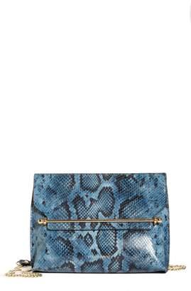 Strathberry East/West Stylist Snake Embossed Goatskin Leather Shoulder Bag