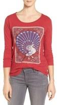 Lucky Brand Women's Peacock Rug Print Tee