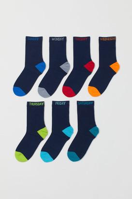 H&M 7-pack Socks - Blue