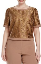 BASLER PLUS Embroidered Organza Top