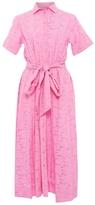 Lisa Marie Fernandez Pink Eyelet Shirt Dress