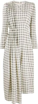 Givenchy Asymmetrical Check Silk Dress