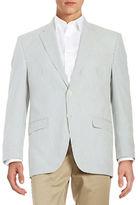 Lauren Ralph Lauren Two-Button Seersucker Jacket