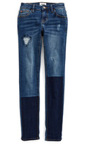Hudson Repaired Straight Leg Jeans (Little Girls)