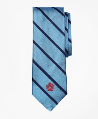 Brooks Brothers Limited Edition Archival Collection BB#3 Striped Rep with Crest Silk Tie
