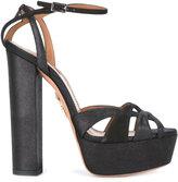 Aquazzura Luna 140 platform sandals - women - Leather/Suede/rubber - 35