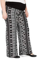 PLANET MOTHERHOOD Planet Motherhood Over the Belly Palazzo Pants - Plus Maternity