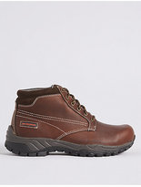 M&S Collection Leather Lace-up Storm Gibson Boots