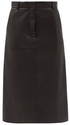 Joseph Salva High-rise Leather Skirt - Black