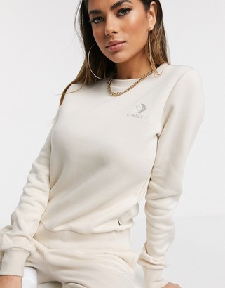 Converse Star Chevron Logo Cream Sweatshirt