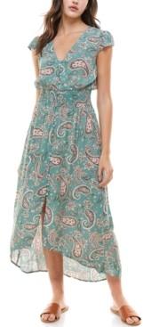 BeBop Juniors' Printed High-Low Maxi Dress