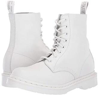 Dr. Martens 1460 Pascal Mono (White) Women's Boots