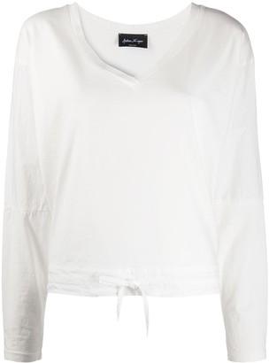 Andrea Ya'aqov drawstring-hem long-sleeve T-shirt