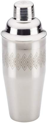 Stainless Steel Diamond Pattern Ayesha Barware 4-in-1 Metal Cocktail Shaker