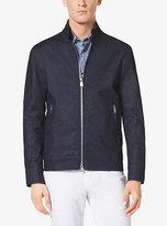 Michael Kors Zip-Front Stretch-Cotton Jacket