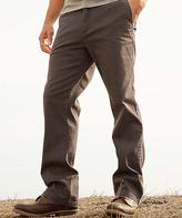Charcoal Twill Flat-Front 32'' Inseam Pant - Men's Regular