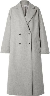 RED Valentino Oversized Double-breasted Wool-blend Coat