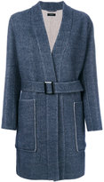Joseph patch pocket belted coat