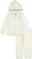 Juicy Couture Cream Hood Zip-Up Jacket & Lounge Pants - Infant Toddler & Girls