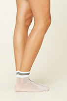Forever 21 FOREVER 21+ Metallic-Trimmed Ankle Socks